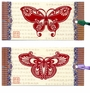 Chinese Bookmarks with Butterfly Paper Cuts (Set of 2) #2