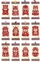 Chinese Bookmarks with Paper Cuts - Good Fortune Kids / 12 Chinese Zodiac Symbols (set of 12)