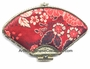 Chinese Brocade Compact Mirror - Flowers #2