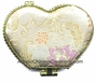 Chinese Brocade Compact Mirror - Flowers #25