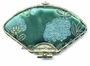 Chinese Brocade Compact Mirror - Flowers #29