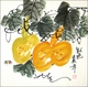 Chinese Brush Painting - Gourds & Bees #567