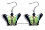 Chinese Cloisonne Earrings (pair) - Butterfly #36