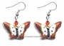 Chinese Cloisonne Earrings (Pair) - Butterfly #49