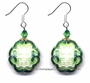 Chinese Cloisonne Earrings (pair) - Good Fortune Symbol #34