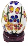 Chinese Cloisonne Egg - Flowers #19
