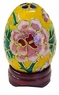 Chinese Cloisonne Egg - Flowers #23