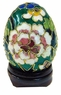Chinese Cloisonne Egg - Flowers #5