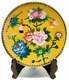 Chinese Cloisonne Plate - Peony & Birds #6