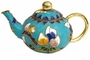 Chinese Cloisonne Teapot - Flowers #20