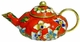 Chinese Cloisonne Teapot - Flowers #24