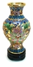 Chinese Cloisonne Vase - Wealth Flowers #24