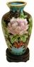 Miniature Chinese Cloisonne Vase - Wealth Flowers