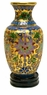 Chinese Cloisonne Vase - Wealth Flowers #331