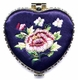 Chinese Compact Mirror - Embroidered Flowers #16