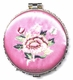 Chinese Compact Mirror - Embroidered Flowers #27