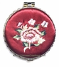 Chinese Compact Mirror - Embroidered Flowers #3