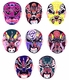 Chinese Paper Cuts - Chinese Opera Masks (Set of 8) #343
