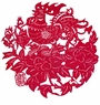 Chinese Paper Cuts - Rooster & Peony #101