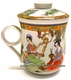 Chinese Porcelain Tea Cup (with Lid & Removable Strainer) -  Chinese Beauties   #15