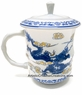 Chinese Porcelain Tea Mug (with Lid) - Dragon  #8