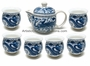 Chinese Porcelain Tea Set - Dragon & Phoenix Symbols #1