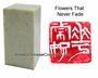 Chinese Seal Stamp - Flowers That Never Fade #38