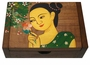 Chinese Wooden Jewelry Box - Maiden  #96