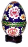 Cloisonne Egg - Flowers #11