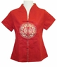 Embroidered Chinese Blouse - Good Fortune #11