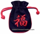Embroidered Chinese Draw String Pouch - Good Fortune #9