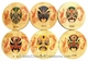 Chinese Bamboo Coasters -  Chinese Opera (Set of 6) #29