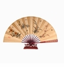 Chinese Silk Folding Fan With Stand - Chinese Four Flowers #219