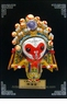 Miniature Chinese Opera Mask - Table / Wall Decor: Monkey King #3