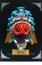 Miniature Chinese Opera Mask - Table / Wall Decor #9