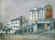 40, Rue Ravignan painting reproduction, Maurice Utrillo
