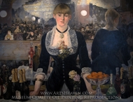 A Bar at the Folies-Bergere painting reproduction, Edouard Manet