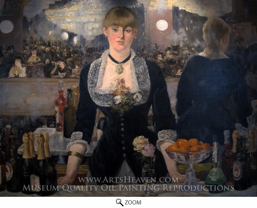 Painting Reproduction of A Bar at the Folies-Bergere, Edouard Manet