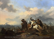 A Battle painting reproduction, Jan Van Huchtenburgh