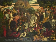 A Battle painting reproduction, Italian Painter