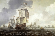 A Battle of the First Dutch War painting reproduction, Reinier Nooms