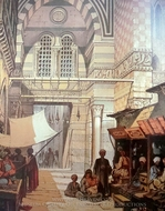 A Bazaar 3 painting reproduction, Amedeo Preziosi