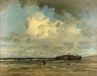 A Beach painting reproduction, Jacob Maris