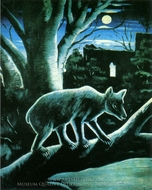 A Bear in the Moonlight painting reproduction, Niko Pirosmani