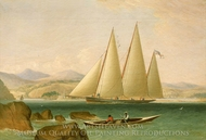 A Bermuda Schooner Yacht Offshore painting reproduction, John Lynn