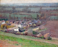 A Bird's-Eye View painting reproduction, Theodore Robinson