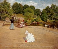 A Bit of the Terrace painting reproduction, William Merritt Chase