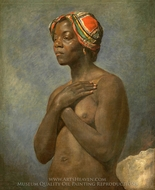 A Black Woman painting reproduction, French Painter