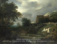 A Bleaching Ground in a Hollow by a Cottage by Jacob Van Ruisdael