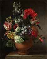 A Bowl of Flowers painting reproduction, Marie Blancour